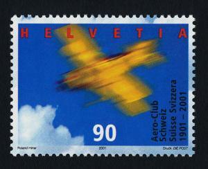 Switzerland 1094 MNH Aero Club Centenary, Aircraft / HipStamp