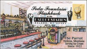2016, Soda Fountain, The Parrot, Helena Montana, Milk Shake, Pictorial 16-189