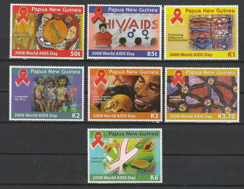 Papua New Guinea MNH 1275-81 World Aids Day 2008