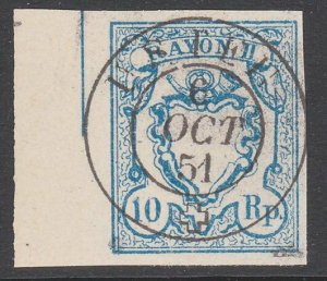 SWITZERLAND  An old forgery of a classic stamp - ...........................B306
