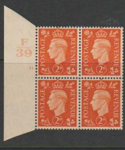 GB George VI  SG 465 Control F39 Cyl 11