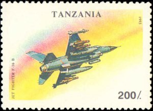 Tanzania #1160-1166, Complete Set(7), 1994, Airplanes, Never Hinged