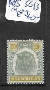 MALAYA NEGRI SEMBILAN (P0901B) TIGER 20C SG 12  MOG