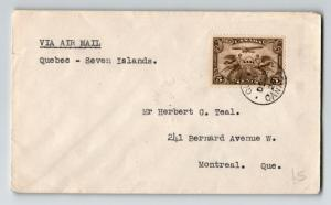 Canada 1928 FFC Quebec to Seven Islands (Can-512) - Z12937