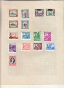 NORTH BORNEO ALBUM PAGE  VALUES MOSTLY 1937-55, MINT/USED
