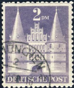 ALLEMAGNE / GERMANY Bizone 1948 Mi.98.YIIB(98.IIwg) 2DM T.2 p.11 - VF Used (b)