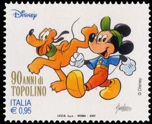 Italy 2017 Mickey Mouse and Pluto mint**