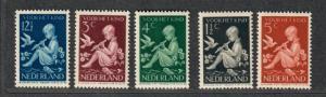 Netherlands Sc#B108-112 M/NH/VF, Complete Set, Cv. $35