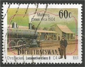 BOPHUTHATSWANA, 1991, used 60c, Locomotives Scott 265
