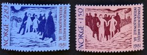 Norway 1981 #790-1 MNH. Disabled