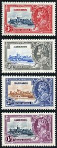 Barbados SG241/4 1935 Silver Jubilee Set of 4 M/Mint