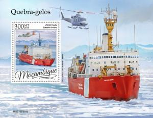 MOZAMBIQUE - 2019 - Icebreakers - Perf Souv Sheet - MNH