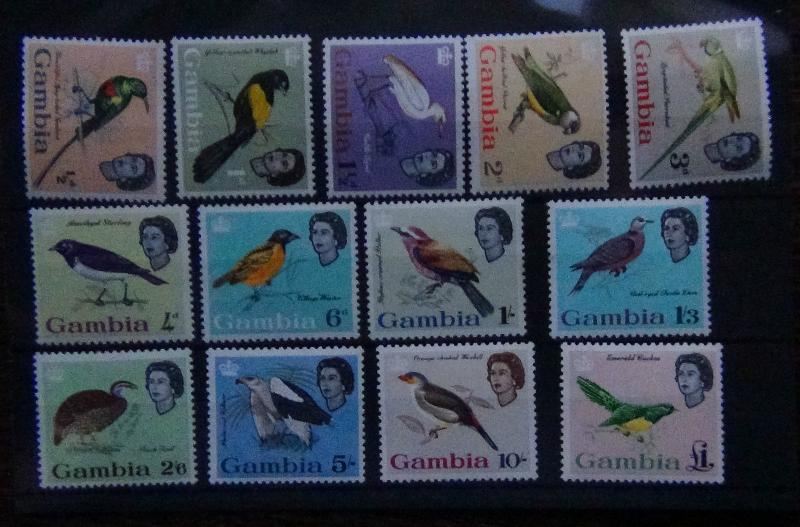 Gambia 1963 Birds set complete to £1 LMM SG193/205