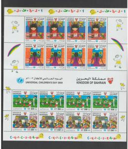 BAHRAIN:  Sc. 591-92 /**INT CHILDREN'S YEAR**/ SHEET OF 16[4 SETS] / MNH.