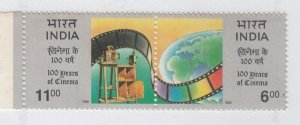 India  1995 # 1515-1516a  100 Years Of Cinema  MNH Pair   23440 d