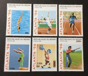 Benin 1996 #829-34, MNH, CV $4.60