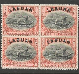 Labuan SG 44c Block of 4 MNH (2cwt)