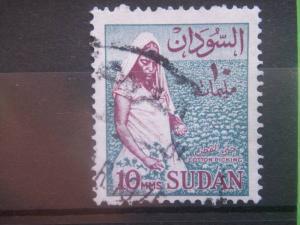 SUDAN, 1962, used 10m, Cotton Scott 147