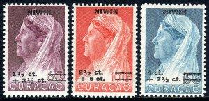Netherlands Antilles B1-B3, MNH. Queen Wilhelmina. Surcharged, 1947