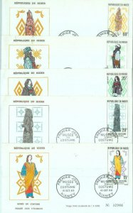 86325 - NIGER - POSTAL HISTORY - Set of 5  FDC COVERS 1963 - Ethnic types