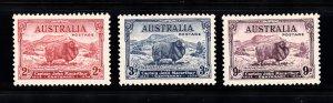 AUSTRALIA SC# 147-149 MH - SALE TO A USA ADDRESS ONLY