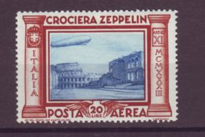 J21518 Jlstamps 1933 italy part of set 20L mnh #c47 zeppelin
