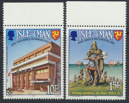 Isle of Man - SG 255-256  SC# 250-251  MUH  Post Office Authority