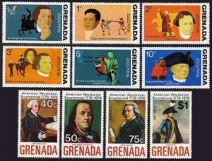 Grenada 628-635,C29-C32,MNH.Michel 657-668,Bl.42-43. USA-200,1976.Leaders,Flags,