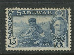 Sarawak -Scott 188 - KGVI Definitives - 1950 - FU - Single 15c Stamp