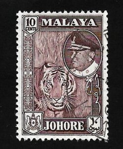 Malaya - State Johore 1957 - U - Scott #88