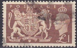Great Britain #289 F-VF Used CV $15.00  (Z4604)