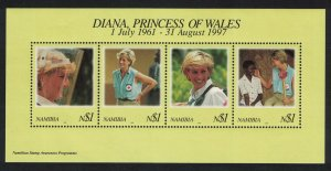 Namibia Diana Princess of Wales Commemoration MS SG#MS789