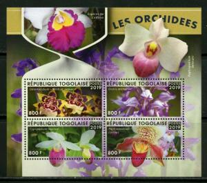 TOGO 2019 ORCHIDS  SHEET MINT NEVER HINGED