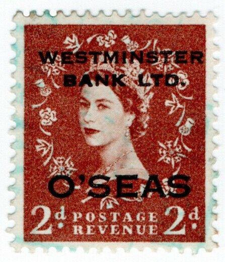 (I.B) Elizabeth II Commercial Overprint : Westminster Bank (Overseas)