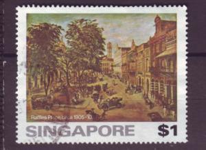J21403 Jlstamps 1976 singapore hv of set used #256 raffles place