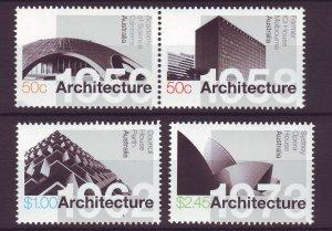 J24278 JLstamps 2007 australia set mnh #2709-12 architecture