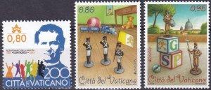 Vatican City #1589, 1591-2  MNH CV $5.75  (Z3135)