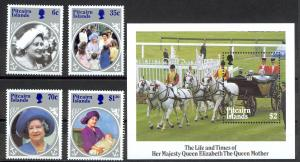 Pitcairn Islands Sc# 253-257 MNH 1985 Queen Mother 85th Birthday