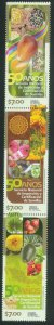 MEXICO 2734, NATIONAL SEED INSPECTION & CERTIFICATION. VERT STRIP..MINT, NH. VF.