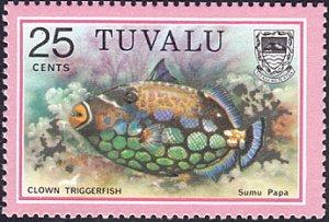 Tuvalu # 105 mnh ~ 25¢ Fish