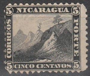 Nicaragua #5  Unused CV $100.00 (S6592)