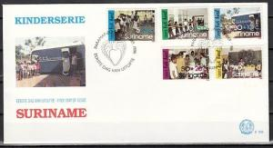 Suriname, Scott cat. B346-B350. Ballet & Youth Activities. First day cover.