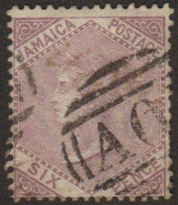 Jamaica #5 used 6p first issue