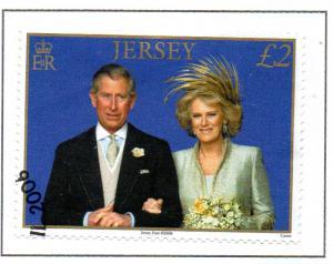 Jersey Sc 1214 2006 £2 Pr Charles Wedding stamp used