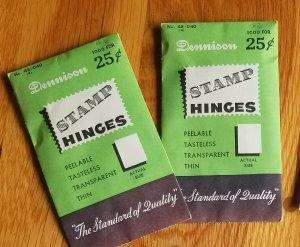2 Sealed packs of older packs of Green Dennison Hinges