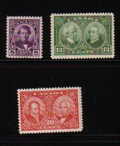 Canada Sc 146-8 1927 Historical stamp set stamp mint NH