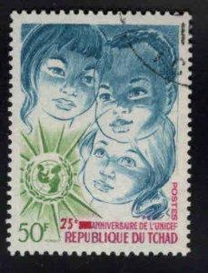 Chad TCHAD Scot 240 Used CTO 1971 UNICEF stamp