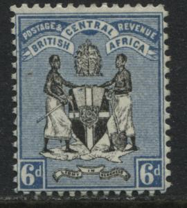 British Central Africa 1895 6d ultra and black mint o.g.
