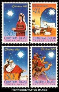 Christmas Islands Scott 242-245 Mint never hinged.