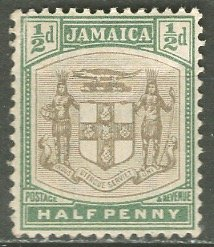 Jamaica; 1903: Sc. # 33: *+/MLH Single Stamp